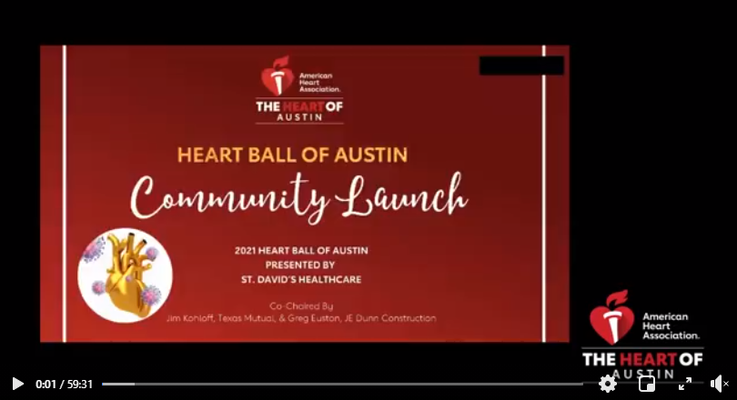Heart Ball of Austin Community Launch Video Picture with link